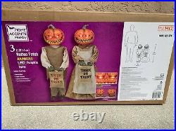 3 Ft Rotten Patch Animated LED Pumpkin Twins 2021 RARE
