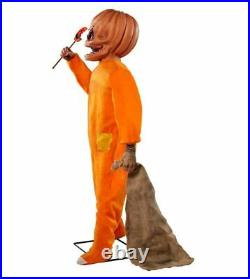 4.3' Moving & Laughing Sam From Trick'r Treat Animatronic Halloween Decoration