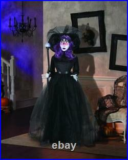 65 Animated Black Countess Sound Motion Activated Indoor Fun Halloween Decor
