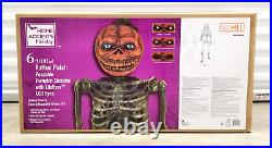 6 FT Rotten Patch LCD Poseable Pumpkin Skeleton withLife Eyes 2021 Home Depot NEW