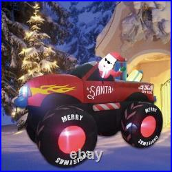 7 Ft Christmas Self Inflatable Truck with Santa Clause Blow up Yard Decoration