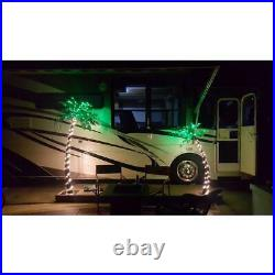 7 ft. Pre-lit led palm artificial christmas tree with green leaves and 96 led