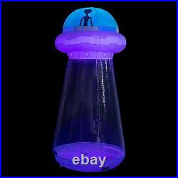 8 Ft Tall Halloween UFO Yard Decor LED Lights Blow Up Inflatable Indoor Outdoor