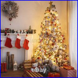 8 Modes Warm LED Pre Lit Luxury Artificial Pine Christmas Tree 4.5FT 6FT 7FT 9FT