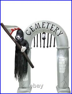 8ft Halloween Reaper Archway Led Lights Airblown Inflatable Yard Decor
