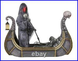 8ft LED Halloween Prop Animated FERRY of THE DEAD Skeleton Decor Yard/Outdoor