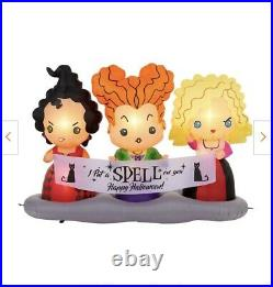 BNIB SOLD OUT Disney 4.5ft Hocus Pocus Sisters Air Blown Inflatable-Never Opened
