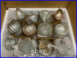 Balsam Hill Jumbo French Country Ornament Set 12-Piece NEWith Open box