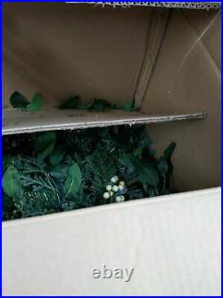 Balsam Hill Whiteberry Cypress Garland 10 Ft 2 Pack LED -NewithOpen