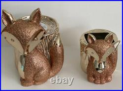 Bath & Body Works FOX Fall 2020 Rose Gold Pedestal Candle & Soap Holder Lot New