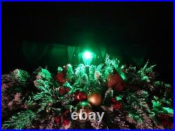 Color Changing Solar Light Cardinals Christmas Cemetery Double Headstone Saddle