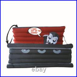 GOOSH 6FT Halloween Inflatable Outdoor Vampire in The Coffin Blow up LED Decor