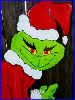 GRINCH Stealing the CHRISTMAS Lights Lawn Yard Art Decoration Decor CUTE RIGHT