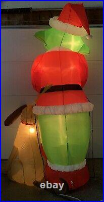 Gemmy 2004 Airblown Inflatable 8 Grinch with Max