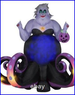 Gemmy Animated Projection Airblown Ursula Disney, 6 ft Tall, black PreOrder