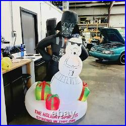 Gemmy Star Wars Darth Vader & Stormtrooper Christmas Airblown Inflatable 6 ft