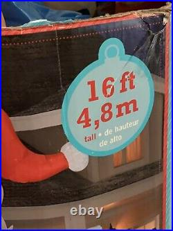 Giant 16ft Waving Santa North Pole Christmas Merry Airblown Inflatable Gemmy