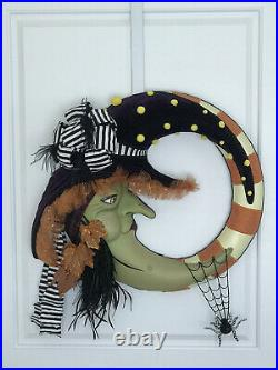 Grandinroad Halloween Witch Moon Wreath Made By Katherines Collection