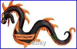 Halloween 12 Ft Black Serpent Dragon Banner Inflatable Airblown Haunted House