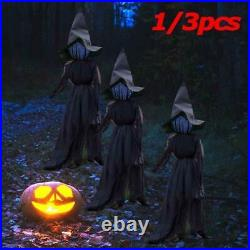 Halloween Decor 3 People Holding Hands Witch