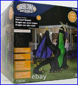 Halloween Gemmy 8.9 ft Projection Fire & Ice Red Eyed Dragon Inflatable NIB
