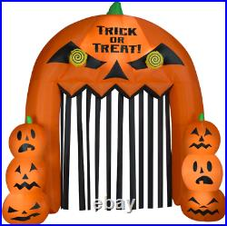 Halloween Inflatable Lighted Yard Display Blow Up Lit Garden Arch Jack O Lantern