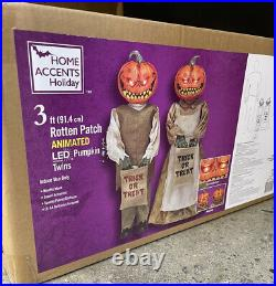 Halloween Rotten pumpkin twins. 3 ft. Animated Home Depot. Sold Out