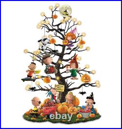 Halloween Tabletop Tree With Over 35 Lights and the entire PEANUTS gang