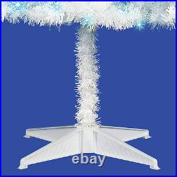 Holiday Time Pre-Lit 6.5' Madison Pine White Artificial Christmas Tree blue