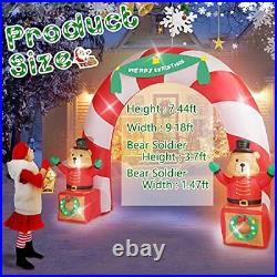 LED Christmas Inflatable Animated Soldier Bear Archway Yard Outdoor Decor 7.5FT