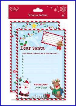Letter to Santa and reply, Kit of 2 with 2 Envelopes. Christmas Eve present Day