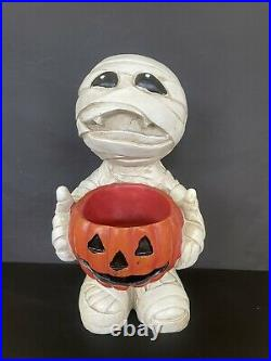 MARVIN the MUMMY Resin Halloween Decor Figure Candy Bowl Pairs with Rae Dunn