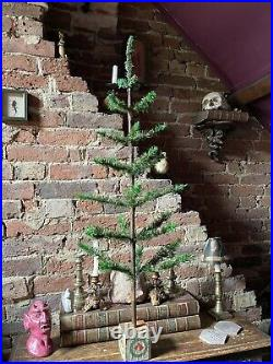Massive Antique Vintage Goose Feather Christmas Tree 42 Inches Tall