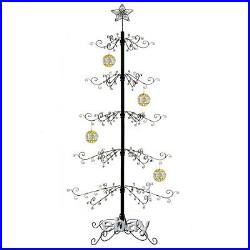 Metal Ornament Tree Display Stand Wrought Iron Christmas Trees 174 Hook 84H