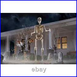 New 12 Ft Foot Tall Giant Skeleton Animated LCD Eyes Halloween Prop Sold Out