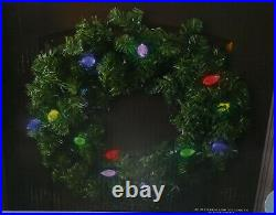 Orchestra of Lights C9 LED Lighted Wreath Color Changing Christmas & WIFI HUB