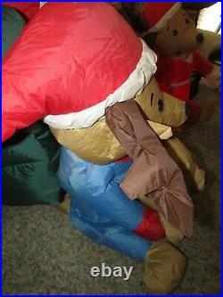 RARE Christmas Inflatable Santa Claus Reading to Dogs Pets Gemmy