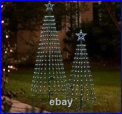 Santa's Best 360 Degree LED Light Show Pixel Tree with Remote & Timer