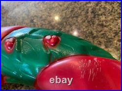 Set of 2 18 Vintage EMPIRE Plastic Blow Mold CHRISTMAS HOLIDAY Wreaths