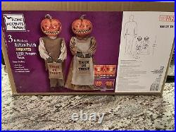 The Home Depot Halloween Pumpkin Twins. HARD TO FIND! Ready To Ship