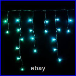 Twinkly 190 LED RGB 16x2 Ft Icicle Lights, WiFi Controlled (Open Box)